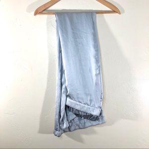 Zara ice blue satin wide leg pants size large